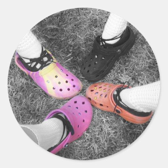 Coloured Crocs & Soft Shoes Sticker