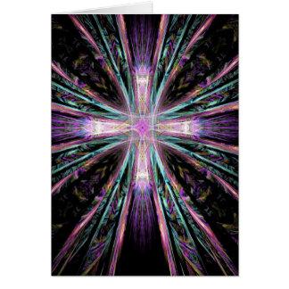 Coloured Cross Card