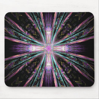Coloured Cross Mouse Pad