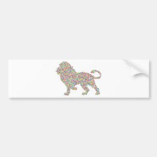 coloured dots lion bumper sticker