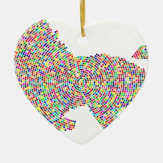 coloured dots lion christmas ornament