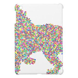 coloured dots lion cover for the iPad mini