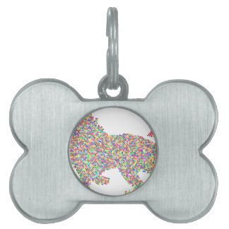 coloured dots lion pet ID tag