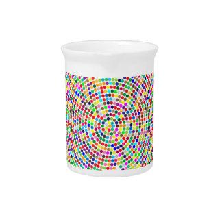 coloured dots lion pitcher