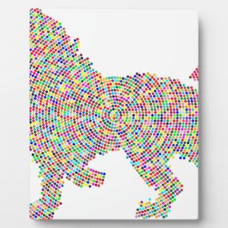 coloured dots lion plaque