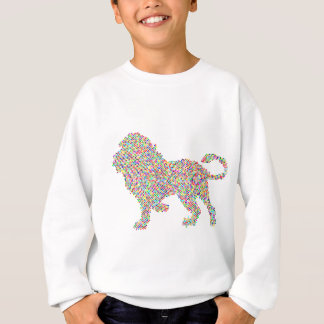 coloured dots lion sweatshirt