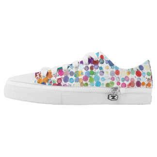 Coloured Dots Low Tops