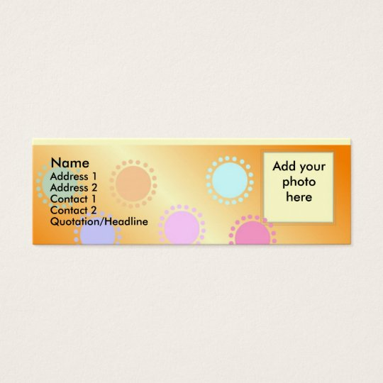 Coloured Dots Skinny Photo Profile Card