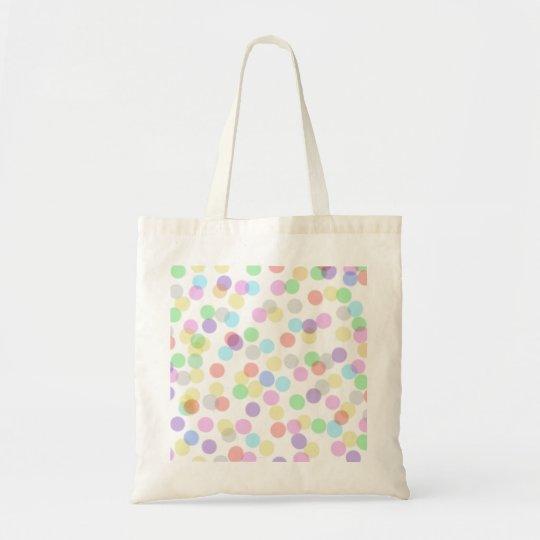 Coloured dotty design tote bag