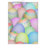 Coloured Easter Eggs Background Card