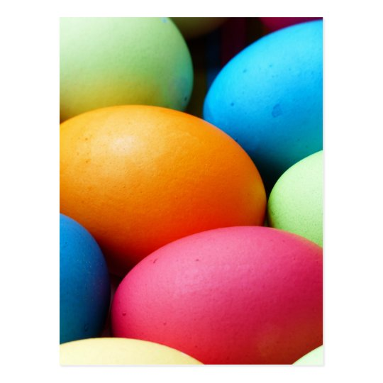 Coloured Easter Eggs, dyed, colourful Postcard