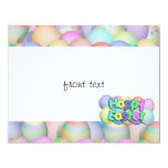 Coloured Easter Eggs - Happy Easter 11 Cm X 14 Cm Invitation Card