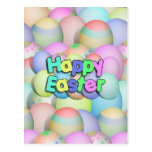 Coloured Easter Eggs - Happy Easter Postcard
