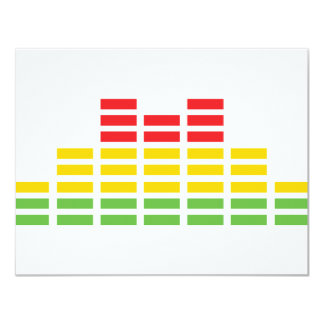 coloured equalizer icon 11 cm x 14 cm invitation card