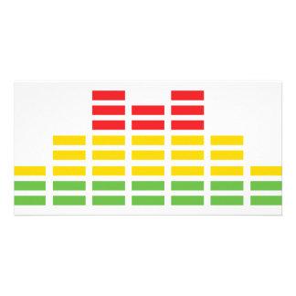 coloured equalizer icon custom photo card