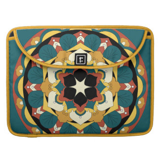 Coloured Floral Mandala 060517_4 MacBook Pro Sleeve