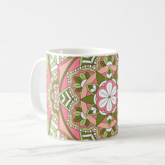 Coloured Floral Mandala 061117_1 Coffee Mug