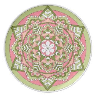 Coloured Floral Mandala 061117_1 Plate