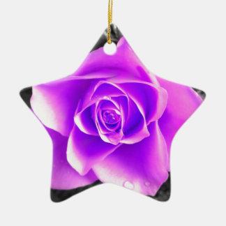 Coloured Flower Design Christmas Ornament