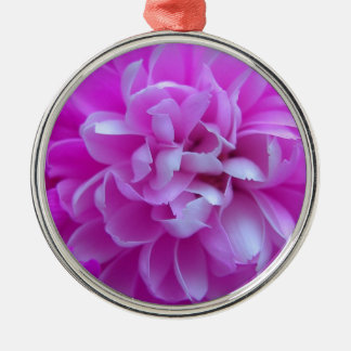 Coloured Flower Design Close up Christmas Ornament
