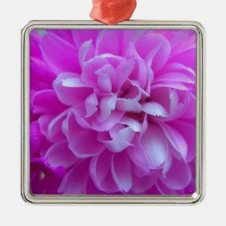 Coloured Flower Design Close up Christmas Ornament