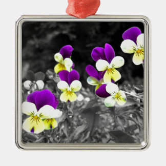 Coloured Flower Design with effect Christmas Ornament