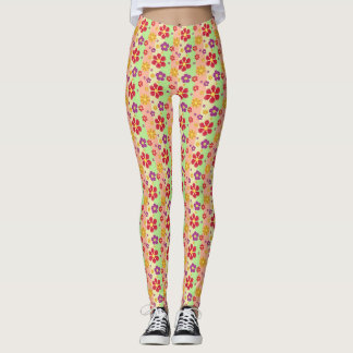 Coloured Flowers Leggings