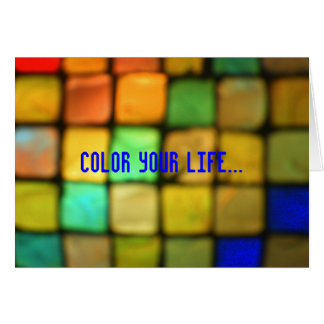 Coloured Glass Tiles Greeting Card