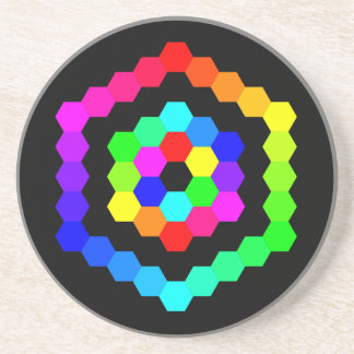 Coloured Hexagon Coaster