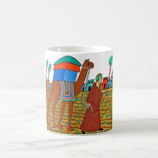 Coloured Illustration of Camel and Arab Basic White Mug