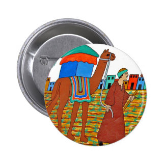 Coloured Illustration of Camel and Arab Pins