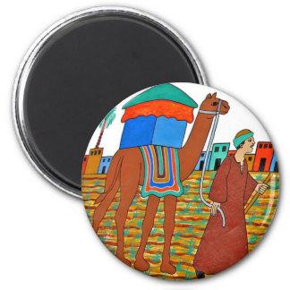 Coloured Illustration of Camel and Arab Fridge Magnet