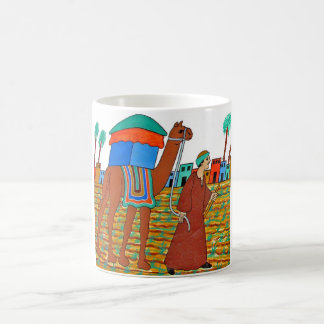 Coloured Illustration of Camel and Arab Mugs