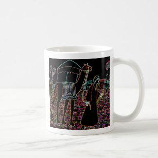Coloured Illustration of Camel and Arab Outline Basic White Mug
