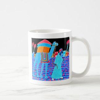 Coloured Illustration of Camel and Arab (Stylised) Basic White Mug