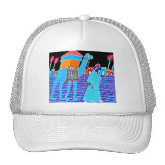 Coloured Illustration of Camel and Arab (Stylised) Mesh Hats