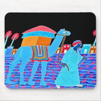 Coloured Illustration of Camel and Arab Stylised Mousepad