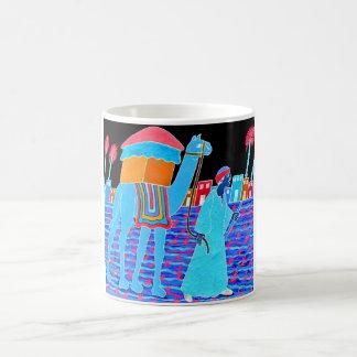 Coloured Illustration of Camel and Arab (Stylised) Mugs