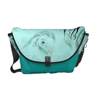 coloured knife-narrower case with vogelhoofdje commuter bag