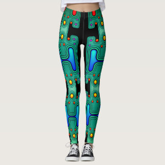 Coloured Mechanical Android Futuristic Robot Leggings