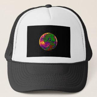 coloured moon trucker hat