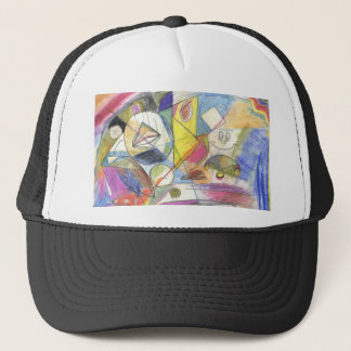 coloured painting trucker hat