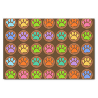 Coloured Paws Tissue Paper