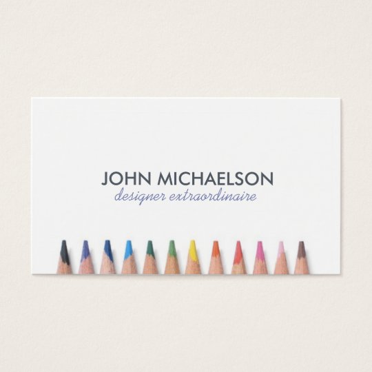 Coloured Pencil Fun Business Card