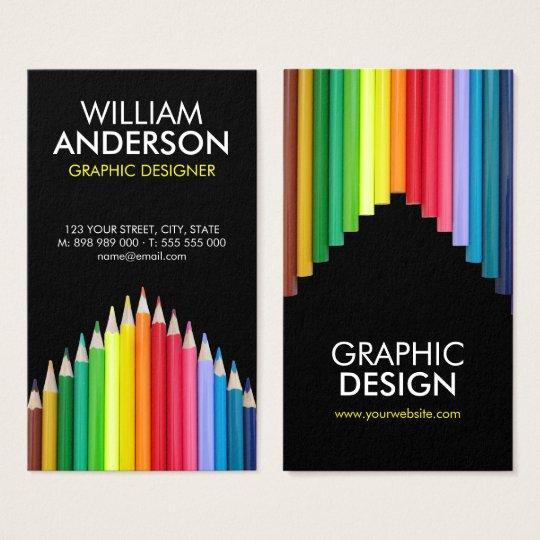 Coloured Pencils Artist Illustrator business card