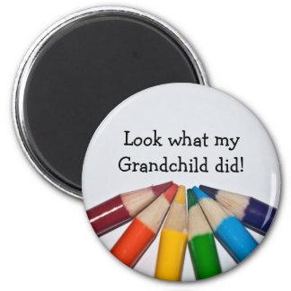 Coloured Pencils Artwork Display 6 Cm Round Magnet