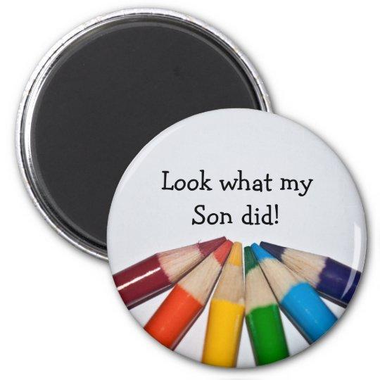 Coloured Pencils Artwork Display Magnet