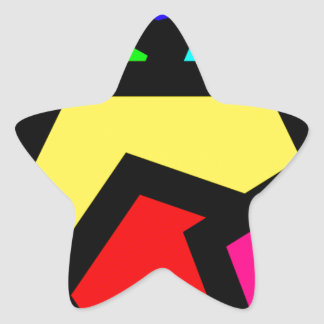 Coloured Pentagon Abstract Star Sticker