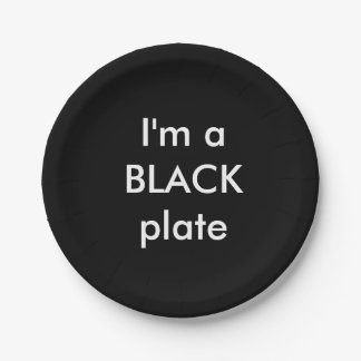 Coloured plates with text. 7 inch paper plate