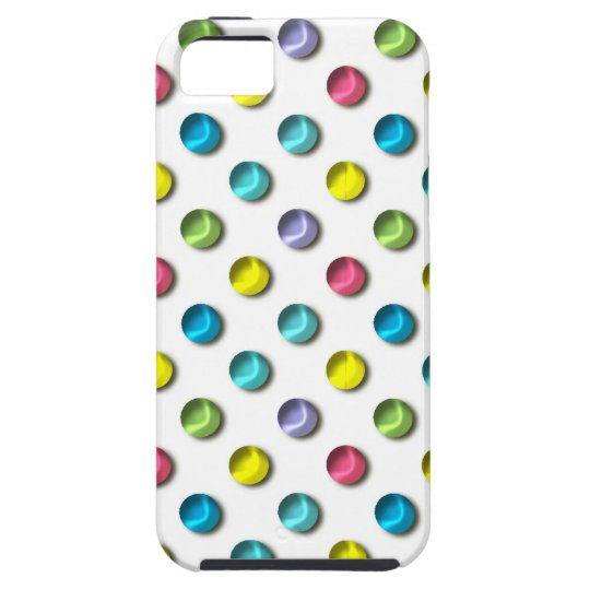 Coloured Polka Dot Pearls Case For The iPhone 5
